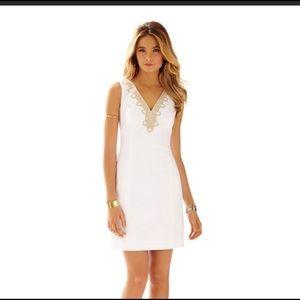 Lilly Pulitzer Bentley V - neck Shift Dress Size 8